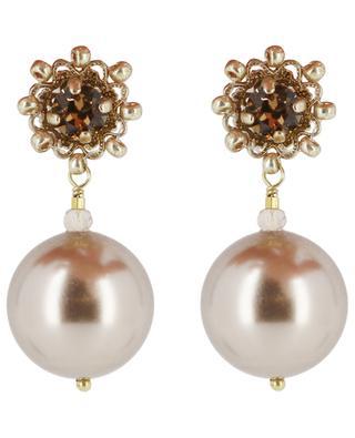 Clips d'oreilles ornés de perles Blanche SATELLITE