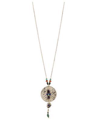 Dakota necklace with embellished medal SATELLITE