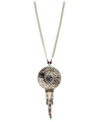 Dakota XXL disc embellished necklace SATELLITE