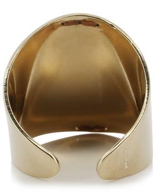 Dakota bead embellished adjustable ring SATELLITE