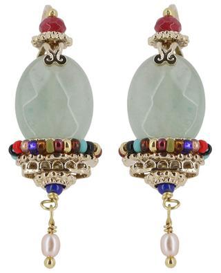 Persane aventurine adorned earrings SATELLITE