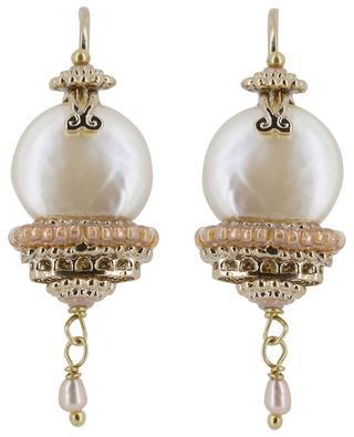 Persane pearl clad ear danglers SATELLITE
