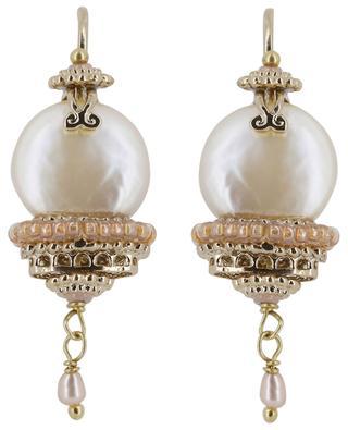 Persane pearl clad ear danglers SATELLITE