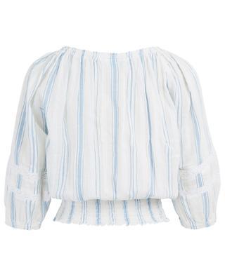 Gestreifte Bluse aus Baumwolle Azura MELISSA ODABASH