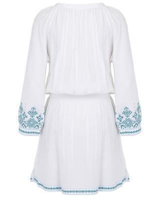 Nadja embroidered long-sleeved dress MELISSA ODABASH