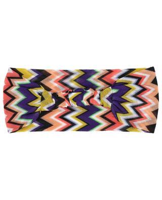Zigzag pattern knit headband MISSONI MARE