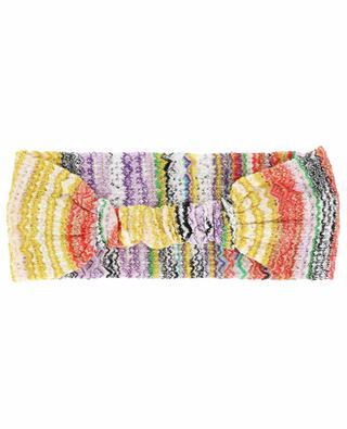 Stripe adorned knit headband MISSONI MARE