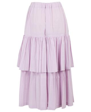 Cotton and linen ruffled skirt GOLDEN GOOSE