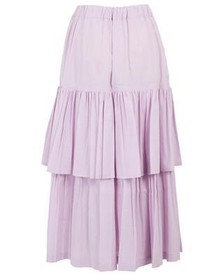 Cotton and linen ruffled skirt GOLDEN GOOSE