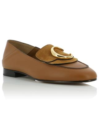 Chloé C leather and suede loafers CHLOE