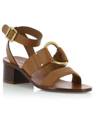 Leather sandals with block heels CHLOE