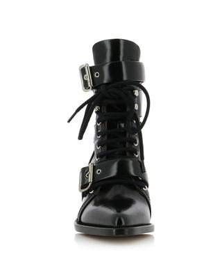 Rylee glossy leather cut-out ankle boots CHLOE