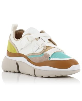 Niedrige Materialmix-Sneakers Sonnie CHLOE