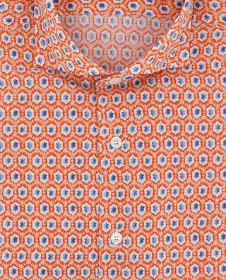 Chemise slim imprimée étoile Sean FEDELI