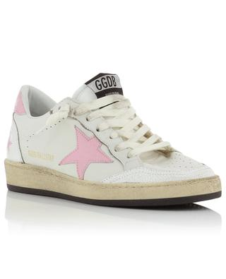 Sneakers aus Leder mit rissigem Stern Ballstar GOLDEN GOOSE