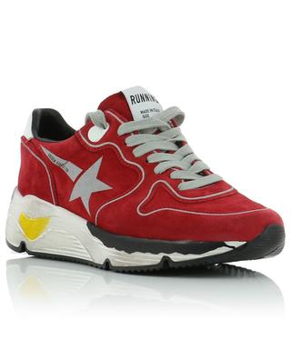 Running silver star suede sneakers GOLDEN GOOSE