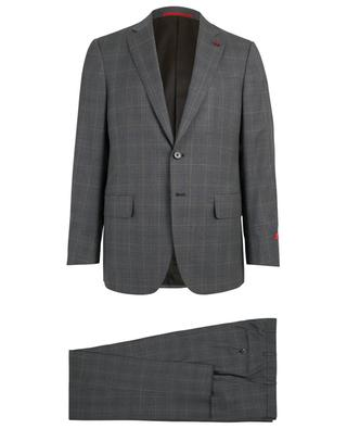 Checked wool suit ISAIA