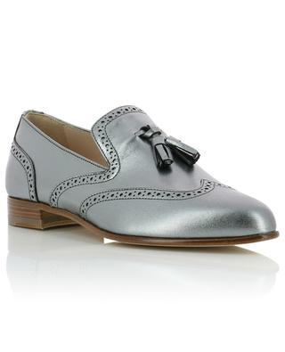 Petra silver leather loafers FABIANA FILIPPI