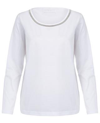 Embroidered long-sleeved T-shirt FABIANA FILIPPI