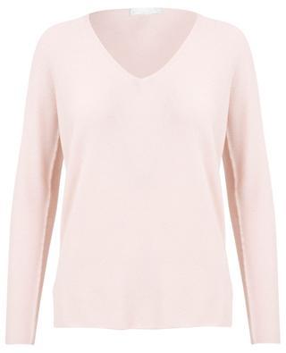 Merino wool, cotton and cashmere V-neck jumper FABIANA FILIPPI