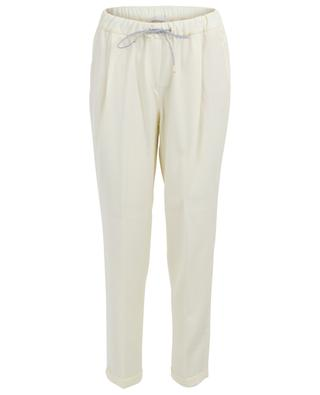 Bead embroidered tapered leg trousers FABIANA FILIPPI