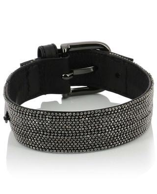 Bead embroidered leather bracelet FABIANA FILIPPI