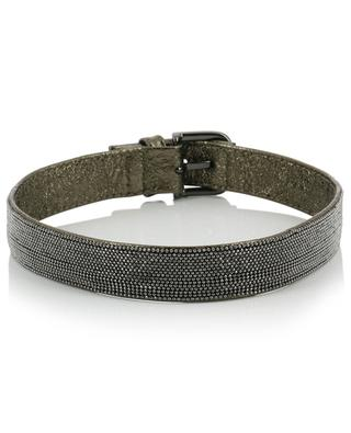Double metallic leather bracelet FABIANA FILIPPI