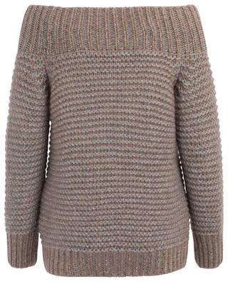 Off-shoulder cashmere and Lurex jumper FABIANA FILIPPI