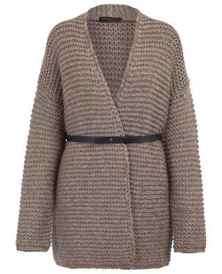 Thick Lurex embellished belted cardigan FABIANA FILIPPI