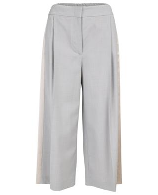 Cropped lightweight wool wide-leg trousers FABIANA FILIPPI