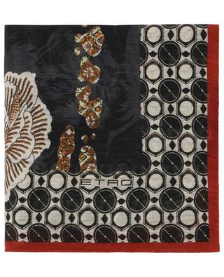 Foulard imprimé en lin et soie mélangés ETRO