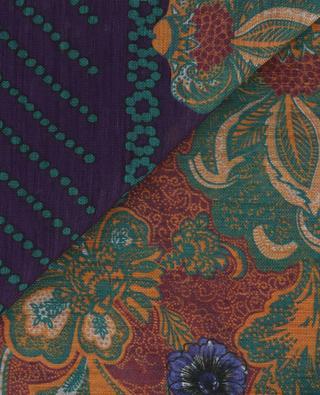 Schal aus Leinen und Seide mit Print ETRO
