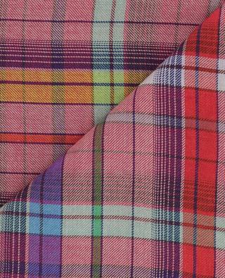 Karierter Schal aus Kaschmir, Wolle und Seide ETRO