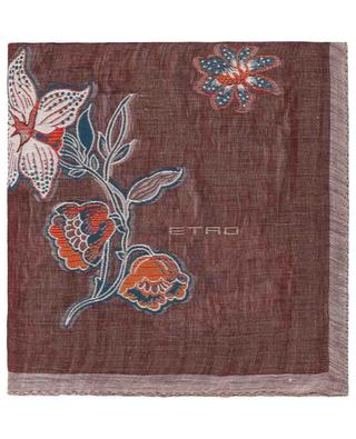 Floral linen and silk blend scarf ETRO