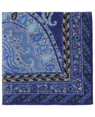 Printed linen and silk blend scarf ETRO