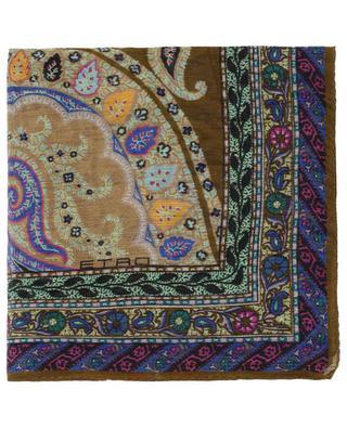 Bedruckter Schal aus Leinen und Seide ETRO