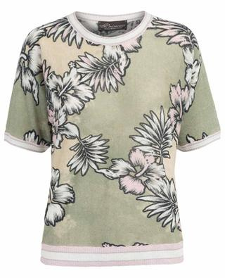 Hawaii design short sleeved linen jumper PRINCESS