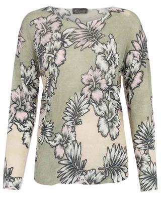 Hibiscus print linen jumper PRINCESS