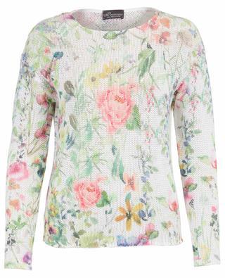 Cotton and linen floral jumper PRINCESS