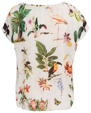 Loose exotic bird print top PRINCESS