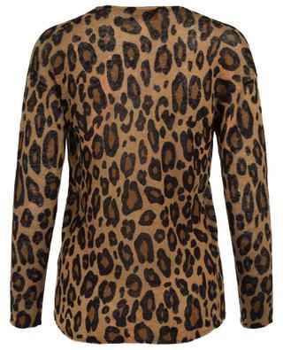 Leopard print V-neck linen jumper PRINCESS