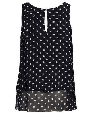 Polka dot printed sleeveless top PRINCESS