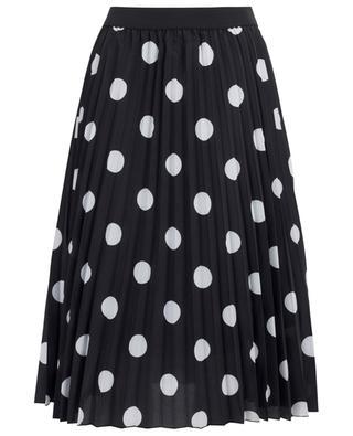 Polka dot printed pleated skirt PRINCESS