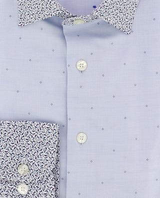 Texturiertes Hemd mit Paisleykragen und -manschetten ETRO