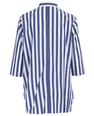 Striped three-quarter sleeve A-line shirt ARTIGIANO