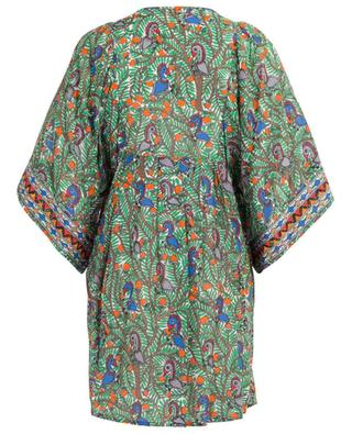Something Wild embroidered printed beach tunic TORY BURCH