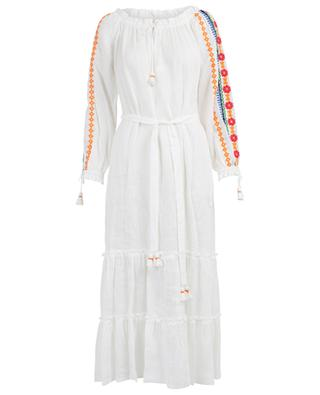 Robe longue brodée Peasant Dress TORY BURCH