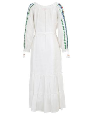Peasant dress long embroidered dress TORY BURCH