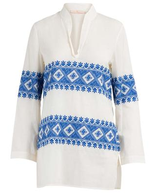Stephanie embroidered cotton veil tunic TORY BURCH