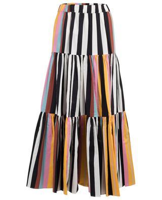Gestreifter Maxirock aus Popeline Peasant Skirt TORY BURCH